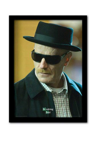 empireposter Breaking Bad Fernsehserie Heisenberg Fertigbild Gerahmt - Grösse 32,5x45 cm