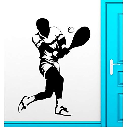Wuyyii 56X88Cm Sport Muurstickers Sport Tennis Speler Ventilator Vinyl Sticker