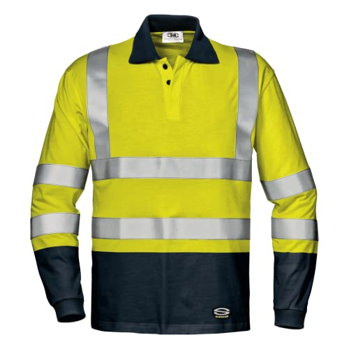 Sir Safety System MC6223EGL Gomez Polo Camiseta, Amarillo/Azul Marino Talla L