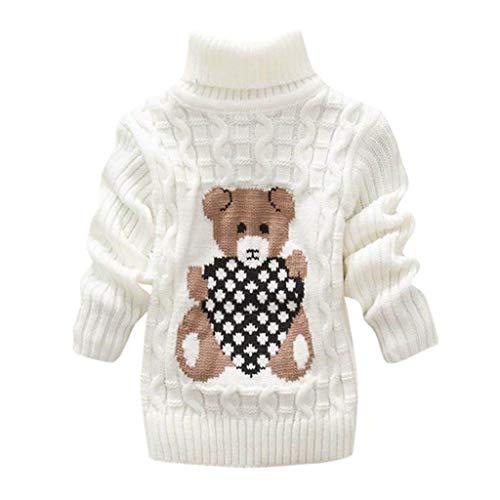 LEXUPE Baby Mädchen Kinder Jacke Trenchcoat Winter Mantel mit Kapuzen Frühling Herbst Windbreaker Mode Oberbekleidung Outerwear (Weiß,130)