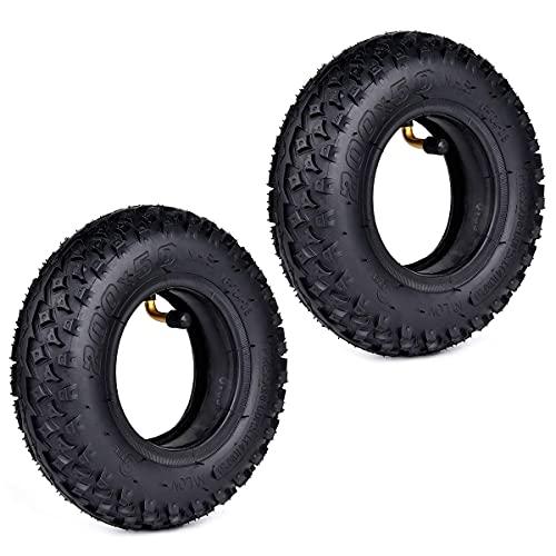 WYDM 2 Juegos de 200 x 50 (8 'x 2') Dirt Scooter Knobby Tire y reemplazo del Tubo Interior para Pro RDS Buggy Neumático