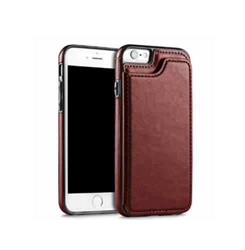 Funda con soporte para iPhone XR XS MAX 5S SE 6S 7 8Plus de piel con tapa para foto y soporte trasero para teléfono