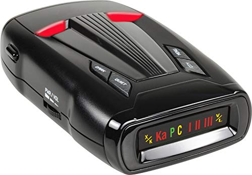 Whistler CR70 Laser Radar Detector: 360 Degree Protection and Voice Alerts - Black