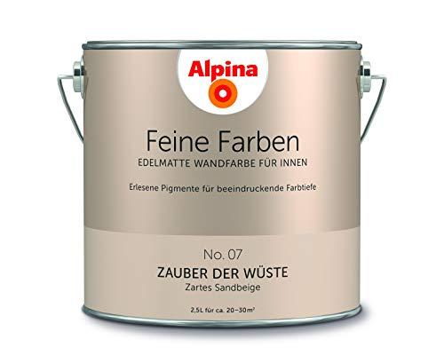 Alpina 2,5 L. Feine Farben, Farbwahl, Edelmatte Wandfarbe für Innen (No.7 Zauber der Wüste - Zartes
