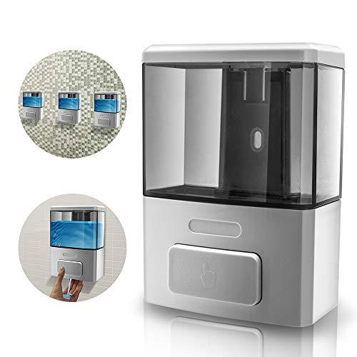 GreeSuit Seifenspender zur Wandmontage, Wand-Spender für Flüssigseife - Wandseifenspender für Reinigungsmittel, Bad Dispenser für Duschgel, Shampoo, Seife (350ML)
