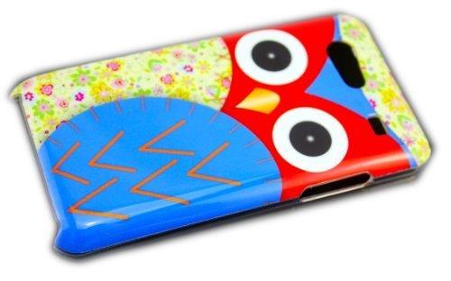 thematys Samsung Galaxy S Advance i9070 Gufo colorato su Sfondo a Cover Rigida per Custodia-Custodia