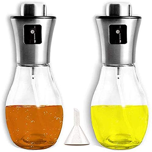 WMYATING Tea set tea set launch Combination of Olive Oil Sprayer for Cooking,6.8Oz Refillable Oil and Vinegar Bottle with Funnel,Quantitative,Glass Oil Dispenser for BBQ,Grilling Roasting and Salad
