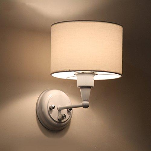 JJZHG Wandlamp, waterdicht, wandverlichting, modieus, wandlamp, woonkamer, slaapkamer, beddengoed, creatieve warme wandlamp, verduistering bedlamp, wit bevat: wandlamp