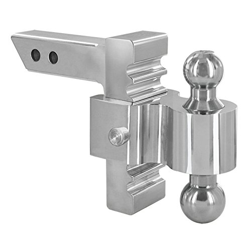"""Rapid Hitch Manufacturing 3410 - 6"""" Drop/Rise Aluminum Rapid Hitch with 2"""" x 2-5/16"""" Plated Steel Combo Ball"""