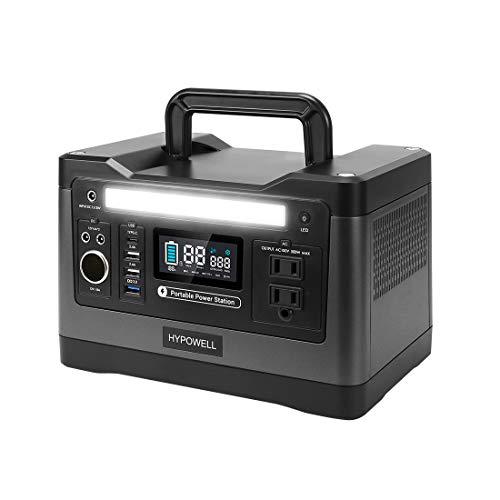 Hypowell ポータブル電源 大容量 純正弦波540W 150000mAh/540Wh 家庭用蓄電池 PSE認証済み 家庭アウトドア両用バックアップ電源 小型発電機 液晶大画面表示 AC(540W 瞬間最大1000W)/DC/USB/Type-Cなど出
