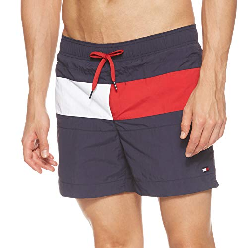 Tommy Hilfiger Herren Medium Drawstring Shorts, Blau (BLUE 416), Large
