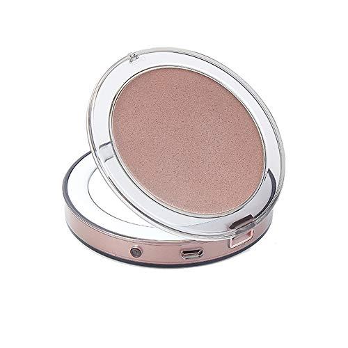 Sensor táctil LED Espejo de Maquillaje USB de Carga Espejo Plegable Mini lámpara portátil Espejo-Rosegold