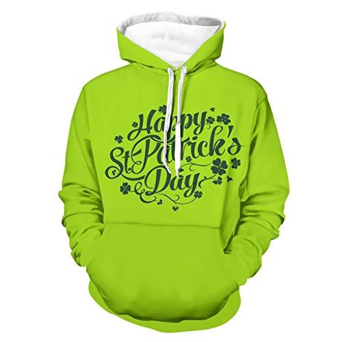 Sudadera con capucha para hombre, diseño con texto en inglés 'Happy St Patrick's Day'