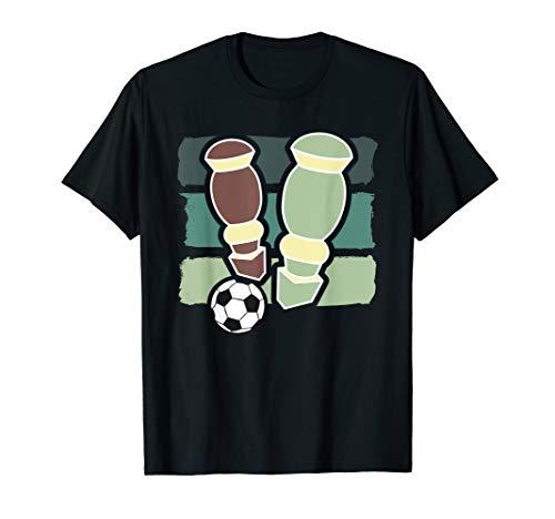 Herren Retro Vinatge Kickern Tischfußball Tischkicker Kickertisch T-Shirt