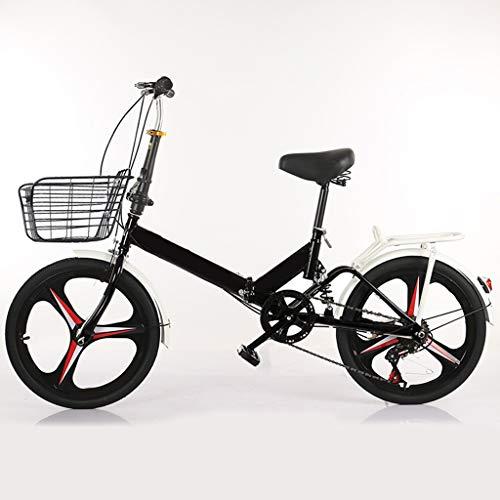 Bike Bici Bicicletta Pieghevole Biciclette For Adulti Uomini E Donne, Cruiser Bikes Bicycling 20 Pollici Ruota A Velocità Variabile, Commuters Urbana For I Ragazzi Delle Ragazze Dei Ragazzi Student