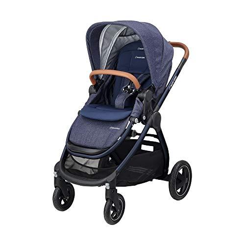 Maxi Cosi Adorra Kombi Kinderwagen, mit Liegeposition, großem Einkaufskorb, einhändigem Faltmechanismus und geringem Gewicht, nutzbar ab Geburt bis ca. 3,5 Jahre, 0-15 kg, Sparkling Blue (blau)