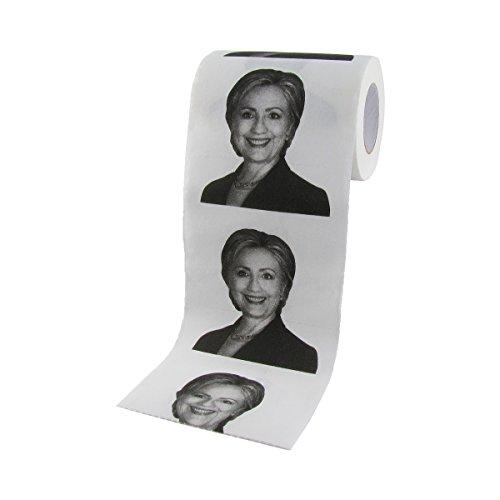 Treasure Gurus Hillary Clinton for President 2016 Toilet Paper TP Tissue Roll