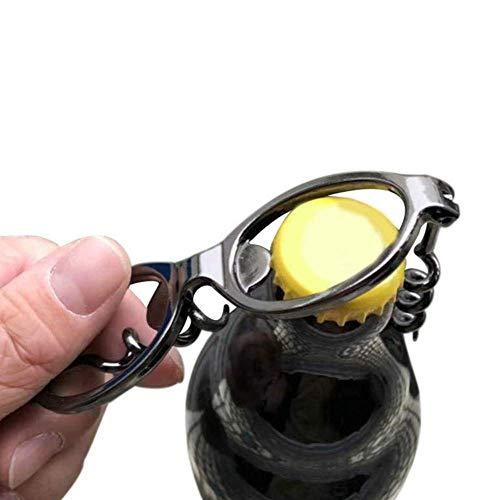 Abrebotellas de botella Manual Casa Gafas Forma Portátil Botella Openadora Llavero Llavero Bar Herramienta Partido Vino Cerveza Cocina Aleación de zinc DIY Dirgee