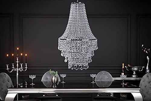 Große XL Design Hängelampe ROYAL Kristall Strass Kronleuchter Lampe Hängeleuchte Lüster klar Acrylglas - 3