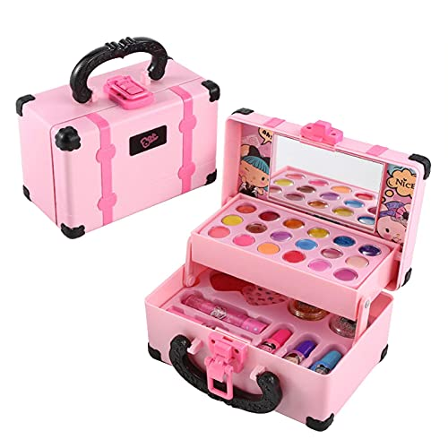 Baitang Set Maquillaje Infantil - Caja De Maquillaje Princesa Kit De Juguetes De Maquillaje para Niños, Regalo De Cumpleaños De Juguetes Cosméticos Lavables De Niña