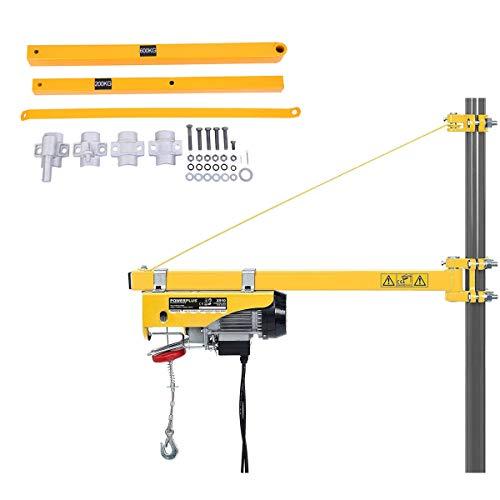 Yonntech Supporto del Braccio della Gru Elettrica da 600kg per il Braccio della Gru per l'Argano Verricello di Sollevamento