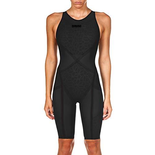 Arena Powerskin Carbon Ultra Women's Open Back Racing Swimsuit, Dark Grey/Black, 26