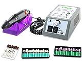 Fußpflege-Set Maniküre-Set Kombi-Gerät Elektrischees Fräser-Set Fußpflegegerät und Elektrische Nagelfeile mit Filzpolierer und keramischen Schleifkörper