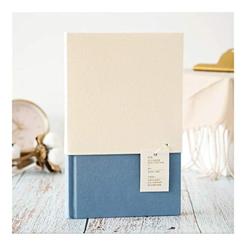 Cuaderno clásico A5 Blanco Línea Horizontal Notebook, 90g Premium Beige Doble Papel Offset, 192 Hojas, Hardcover Cloth Diario, Oficina for la Escuela (Color : Blue)