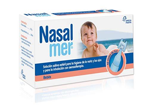 Nasalmer - Solución Salina Limpieza o Lavado Nasal - 40 Unidades