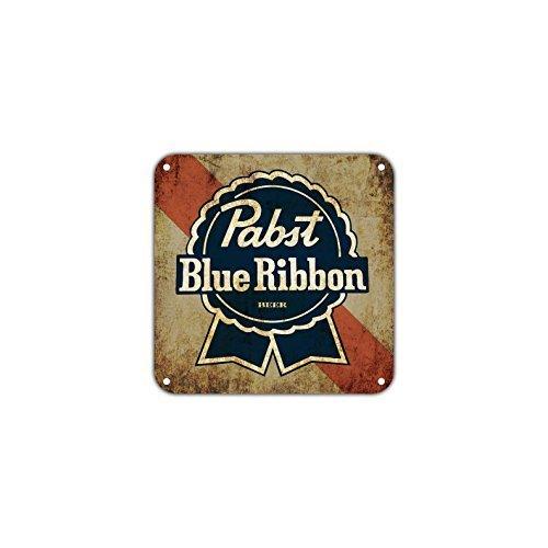 Monsety Aluminium Schild Pabst Blue Ribbon Bier Neuheit Home Tür Schlafzimmer Zaun Street Garage Schild Outdoor Innen
