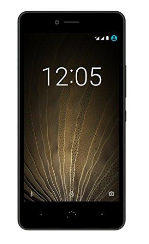 BQ Aquaris U Lite Smartphone black/graphite grey (5 Zoll HD, Qualcomm Snapdragon Cuad Core, 16 GB + 2 GB RAM, 8 MP-Kamera, Android)