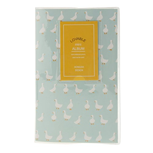 P Prettyia 84 Taschen Fotoalbum Mini Fotobuch Album für Instax, Muttertagsgeschenk Geburtstagsgeschenk Jahrestag - Blau Ente