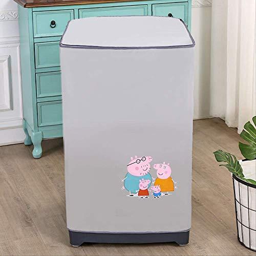 Waschmaschinenabdeckung wasserdichte und staubdichte Abdeckung 60 x 60 x 86cm Peppa fügt eine Kappe hinzu
