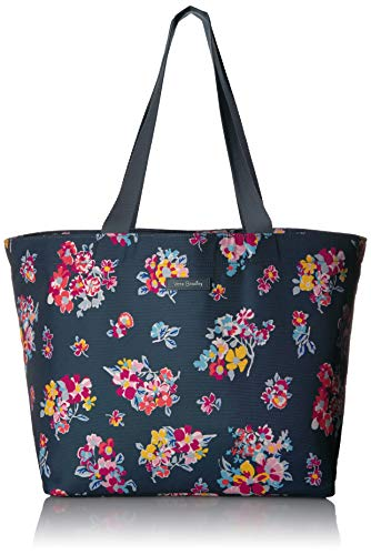 Vera Bradley Women's Lighten Up Drawstring Family Tote Bag, Tossed Posies