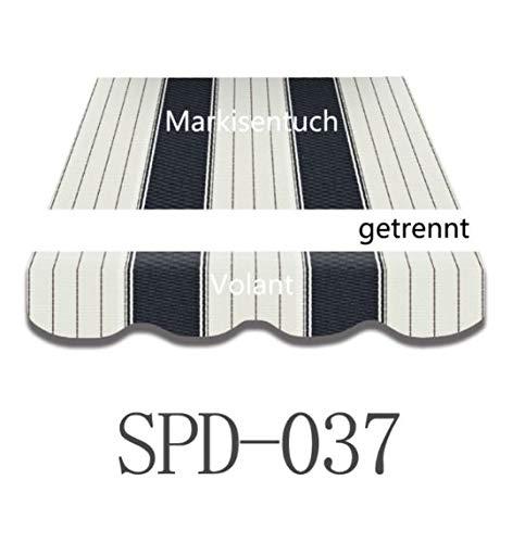 Vana Deutschland 3 * 2,5m Markisenstoff Markisen-Bespannung mit Volant SPD037