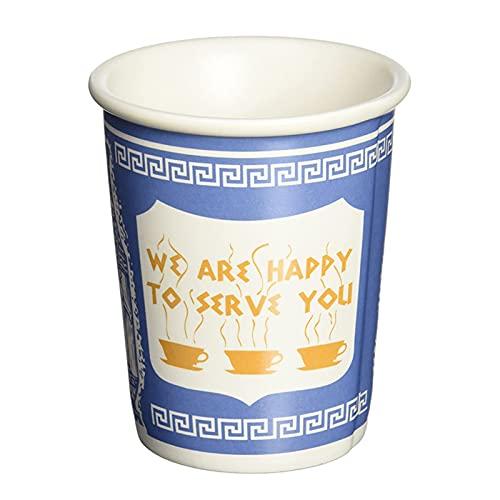 Delisouls Taza de café de cerámica, taza de café icónica de Nueva York sin tapas y asa, taza de café creativa – We are Happy to Serve You Cup Regalo para oficina, cafetería, restaurante