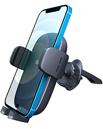 Phone Mount for Car, [Super Easy & Stable] Car Phone Holder Mount Fit for All Cell Phone with Thick Case Car Mount for iPhone Samsung Cell Phone Automobile Cradles Air Vent Universal Flexible11