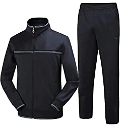 cfzsyyw Mens Athletic Full Zip Jacket & Pants Jogger Sports Sets Casual Tracksuit
