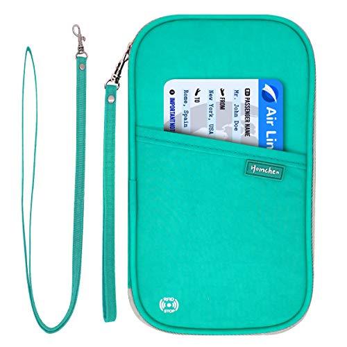 RFID Blocking Family Passport Wallet Holder Waterproof,...