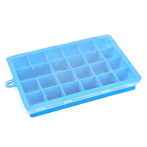 YWSZJ 24 Gitter Silikon Eiswürfel Tray Formen Quadratische Form Eiswürfel Maker Früchte EIS EIS Creme Form Für Wein Bar Trinkende Dropship (Color : A)