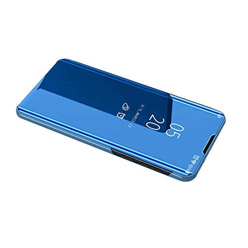 Samsung Galaxy Note10 Liteケース/カバー 2つ折り 液晶保護 パネル 半透明 サムスンギャラクシー ノート10 Lite ケース/カバー おしゃれ アンドロイド スマフォ スマホ スマートフォンケース/カバー(ブルー)
