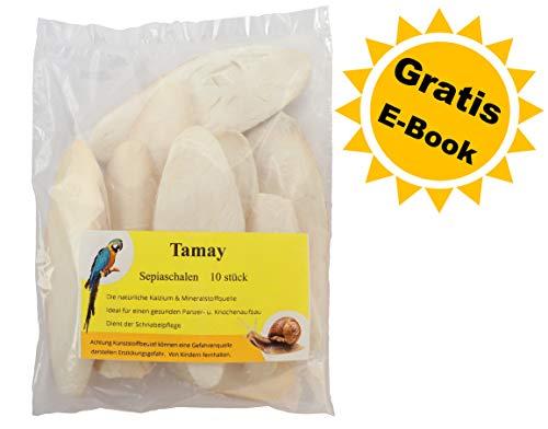 Tamay Sepiaschalen Premium, Kalzium u. Vitaminversorgung für Reptilien, Schildkröten, Bartagamen, Vögel