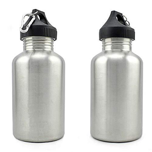 Waterfles, 2L Outdoor Sport RVS Grote Capaciteit Drink Water Fles Cup Ketel multi