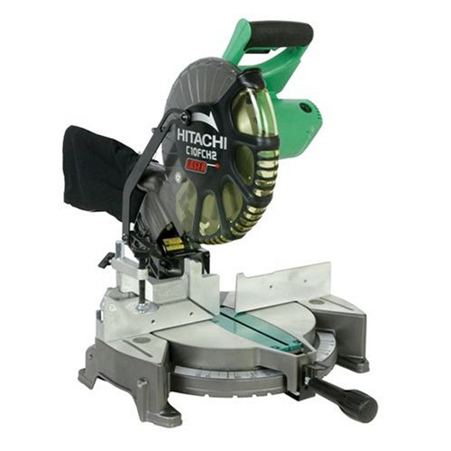Hitachi C10FCH2 15-Amp 10-inch Single Bevel Compound Miter Saw with Laser...