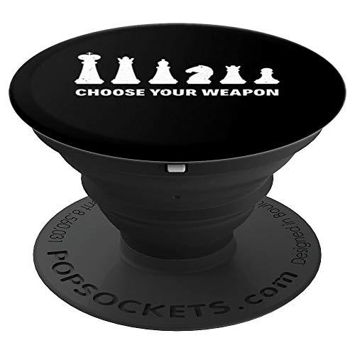 Schach Strategiespiel Schachfigur Schachspiel Schachspieler - PopSockets Ausziehbarer Sockel und Griff für Smartphones und Tablets