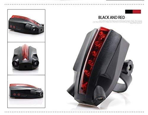 2 Laser 5 LED Rear Bike Bicycle Tail Light Beam Safety Warning Red Lamp