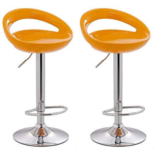 Tabouret de bar ABS Bar en plastique Chaise Télésiège Ordinateur Chaise haute avant Tabouret de bar Tabouret Chaise Dining Chair Crescent Moon réglable barre rotative Tabouret Cuisine Tabouret, noir +