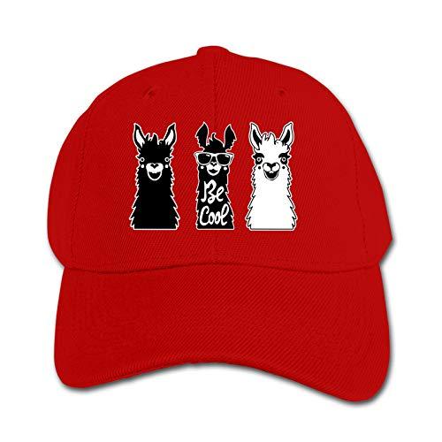 Be Cool Like Llama (2) Unisex Sports Cap Teen Hut Sunproof Kids Cap Hip-Hop Cap Verstellbare Baseball Cap Sun Hat für Kinder