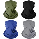 4 Pack Neck Gaiter Breathable Bandana Mask for Outdoor Protection, Washable Reusable Cooling Gator Mask Headband Mask Face Covering Protect from Dust Wind for Men Women, Cycling, Running, Hiking
