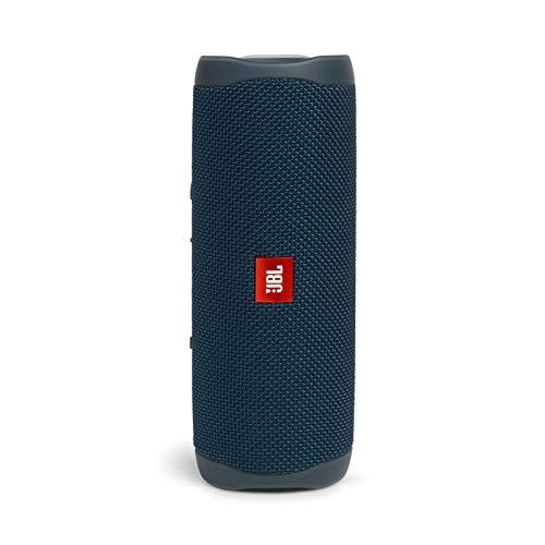 JBL FLIP5 Bluetoothスピーカー IPX7防水/USB Type-C充電/パッシブラジエーター搭載/ポータブル ブルー JBLFLIP5BLU 【国内正規品/メーカー1年保証付き】